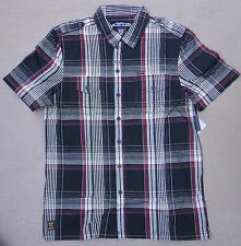 Alpinestars Barrel Plaid Motocross Black Classic Fit T Shirt Mens Size Medium