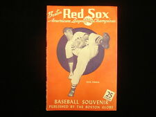 1946 Boston Red Sox Souvenir Yearbook – Missing Insert Poster