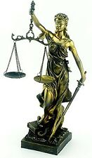 """Lady Of Justice Statue with Scales - 11.5"""" Tall - Legal Law Justica"""