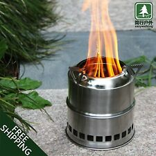 Outdoor Wood Gas Stove Alcohol Portable Camping Hiking Backpack Stoves