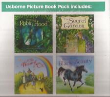 USBORNE PICTURE BOOK PACK The Secret Garden The Story of Black Beauty Robin Hood