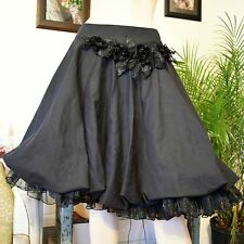 Artka Retro 50s Style Full Circle Swing Skirt Embellished Crinoline Trim M/L 28