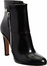 GIANVITO ROSSI Patent Cuffed Ankle Boot in Black Size 37 7 Retail $1035