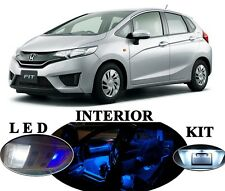 Ultra Blue LED Package - Interior + License Plate for Honda Fit (9 pieces)