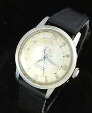 VINTAGE WITTNAUER AUTOMATIC MENS WRIST WATCH - RARE DAY DATE @ 12 – 11ACB