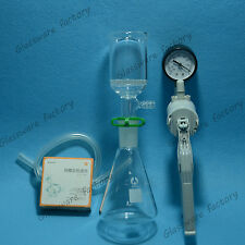 500mL,Suction Filtration kit,50mm Buchner Funnel,500mL Flask & Vacuum Pump,24/40