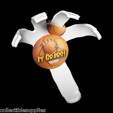 """Basketball Ball Hand Holder Claw Wall Mount Display by """"It Grabs"""" - WHITE"""