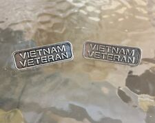 U.S.A. AMERICAN SERVICE MEN 2 VIETNAM VETERAN RIBBON PEWTER PINS ALL NEW.