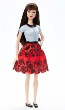 Barbie Fashionista Doll Blue and Red Dress #19