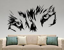 Wolf Wall Decal Animal Head Eyes Vinyl Sticker Art Bedroom Wildlife Decor 14wz