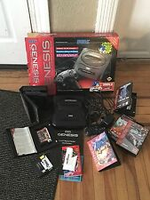 Sega Genesis SYSTEM Lot Bundle Console, Controller, Several Games NHL '97 NFL