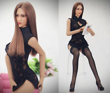 "1:6 Scale Black Cheongsam Female 12"" Action Figure Accessories Clothing Sets"