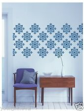 """STENCIL WALL STENCILS NEW 16.53""""x11.69"""" Airbrush PVC TEMPLATE LARGE damask"""
