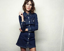 BNWT Alexa Chung for AG Pixie  NAVY DENIM Dress  ** Large ** Net-A-Porter**