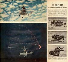 1952 vintage Helicopter AD, Army New one man JET JEEP helicopter Jeep -011515