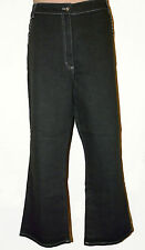BNWT size 1XL  CASUAL & CO BLACK BOOT CUT  STRETCH Ladies JEANS w DIAMANTE TRIM
