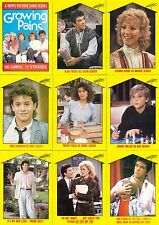 GROWING PAINS TV SHOW 1988 TOPPS COMPLETE BASE CARD  & PUZZLE STICKER SET 66/11