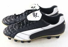 Puma Mens King SL I FG Firm Ground Leather Soccer Cleat Black White Gold Size 7