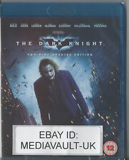 BATMAN THE DARK KNIGHT 2 DISC BLU RAY - NEW AND SEALED - UK RELEASE - NOLAN BALE