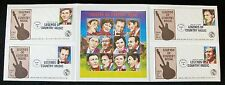 Legends Of Country Music Stamp Collection - Mint Sheet & Four First Day Covers