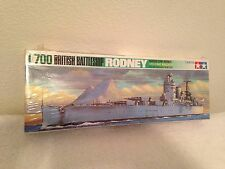 NIB SEALED TAMIYA 1/700 BRITISH BATTLESHIP RODNEY WATERLINE MODEL MADE IN JAPAN
