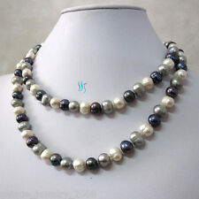 """34"""" 7-9mm Multi Color Freshwater Pearl Necklace M5 Mother's Day Gift"""