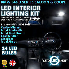 BMW E46 3 SERIES COUPE LED INTERIOR UPGRADE COMPLETE KIT SET BULB XENON WHITE