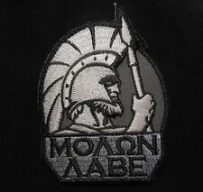 MOLON LABE SPARTAN TACTICAL WARRIOR 300 LAMBDA SWAT VELCRO® BRAND FASTENER PATCH