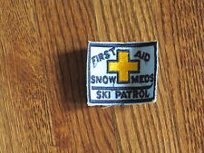 ski patrol, snow meds first aid patch, new old stock. 1960's
