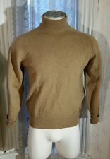 Vintage Men's Lord Taylor Made in England by Hockley Tan Wool Sweater Turtleneck