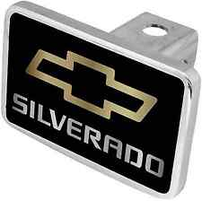 New Chevrolet Silverado Gold Logo/Mirrored Word Hitch Cover