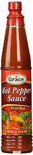 GRACE HOT PEPPER SAUCE NO MSG 3 OZ (PACK OF 6)