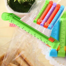 5bags Kitchen Date Sealing Clips Seal Plastic Bags Snack Food Clip Sealer YG