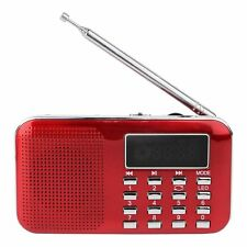L-218AM Portable Digital FM/AM Radio MP3 Player Multimedia Speaker w/ Flashlight