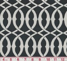P Kaufmann Line Drawing Domino Black White Woven Home Decor Fabric BTY