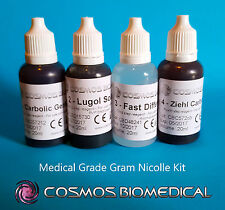 Gram Nicolle Stain (4 x 20ml) - Microscope Slide Stain Kit