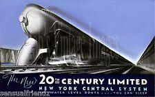 New York Central Train Poster Railroad 20th Century LTD #2 art deco print 1940 S