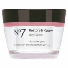 Boots No7 Restore Anti Aging Firming and Renew SPF15 Day Cream 1.69 oz 50 ml NEW