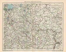 B6335 Central RUSSIA - Carta geografica antica del 1903 - Old map