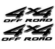 2 BLACK 4X4 OFF ROAD DECAL STICKER 4WD TRUCK FORD CHEVY DODGE TOYOTA GMC LOGO