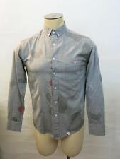 SLVDR Gray Camouflage Button Down Casual Woven Shirt Small S