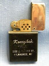 Vintage Cigarette Lighter KRUSZKA'S TAP 1132 E Wright St Milwaukee Wisconsin