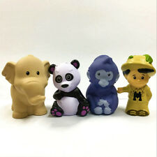4pcs Fisher Price Little People Zoo Talkers Animal Tree House Figure -no sound