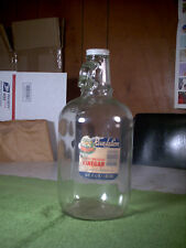 Vintage Revelation White Distilled Vinegar One Half Gallon Glass Jug/Bottle