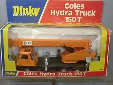 "DINKY TOYS MODEL No.980 COLES HYDRA TRUCK  MOBILE CRANE ""ORANGE VERSION "" MIB"