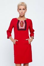 Ukrainian Women's pocket dress with embroidery design on front. Size XSmall