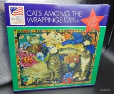 Cats Among Wrappings 550 Pc Jigsaw Puzzle Leslie Anne Ivory Great American Fa...