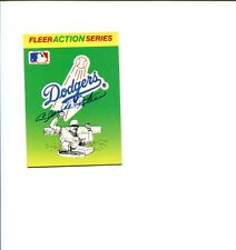 Claude Osteen Los Angeles Dodgers World Series Champ Signed Autograph Photo Card