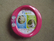 Potette Plus Travel/Portable/Holiday Trainer Potty and Toilet Seat in Pink NEW