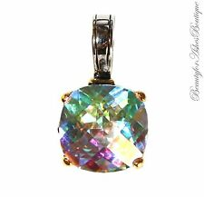 Multi Faceted Throne Room Fire Aurora Borealis Rainbow Ice Glam AB CZ Pendant